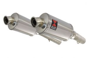 SL1000 Falco 99-05 Exhaust Silencers 230mm Oval Stainless